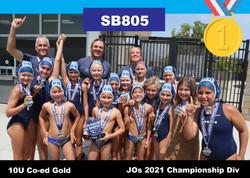 21 JO Champ 10U Coed SB805 1st Gold