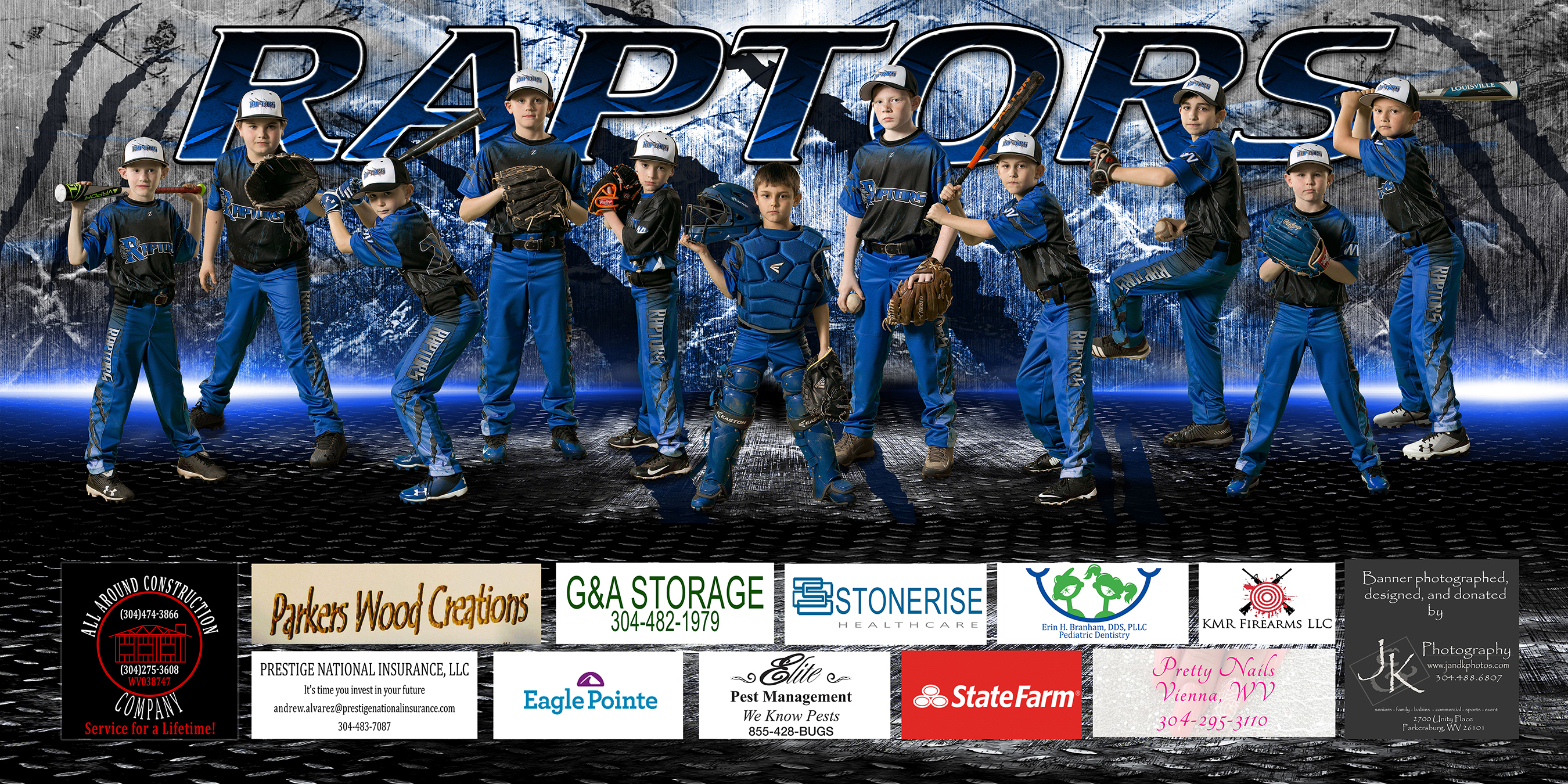 Baseball Team Photo Banner