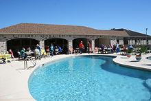 Pool social activity and good food