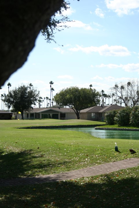 Homes viewed from golf course