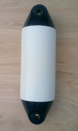 450mm white fender with blue ends