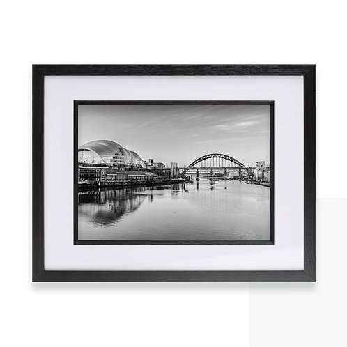Tyne Bridge, Newcastle Photographic Black and White Print, Wall Art Photography