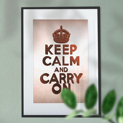 Keep Calm and Carry On Digital Wall Art Print