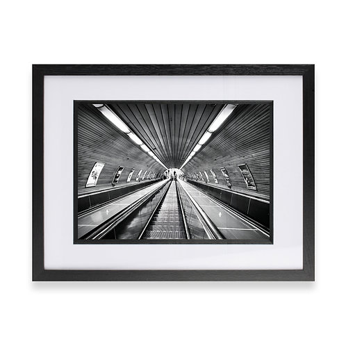 Black and White Print Underground, Fine Wall Art Photography
