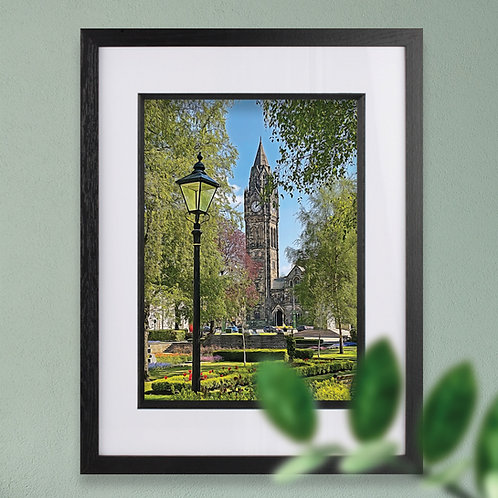 Framed Memorial Gardens Rochdale, Rochdale Wall Art - Digital Painting