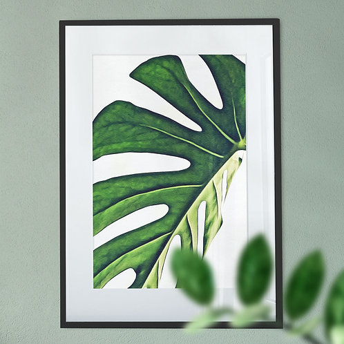 House Plant Digital Wall Art Print Magnified