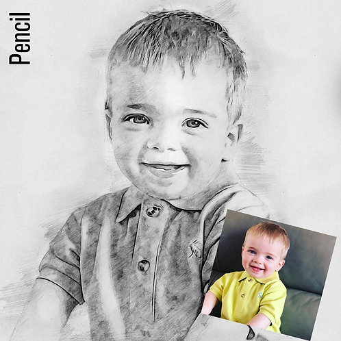 Personalised Portrait - Pencil Effect
