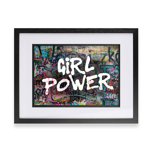 'Girl Power' Digital Graffiti Word Art