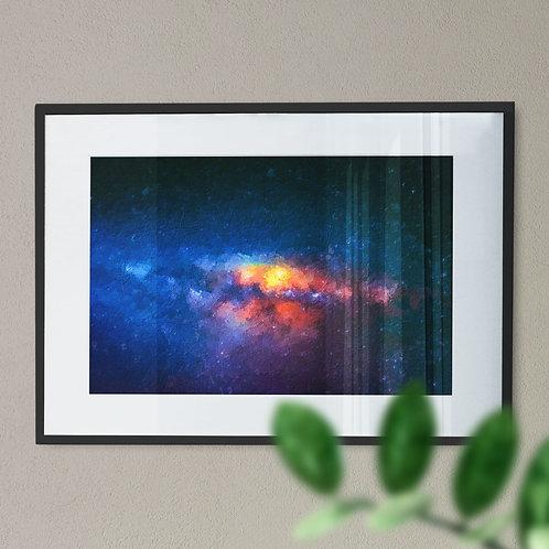 Space Nebula Digital Wall Art Print (Abstract)