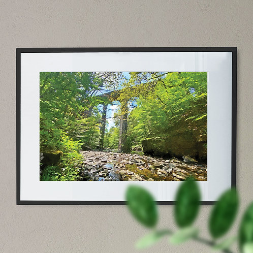 Healey Dell Rochdale Oil Painting Effect Wall Art Print