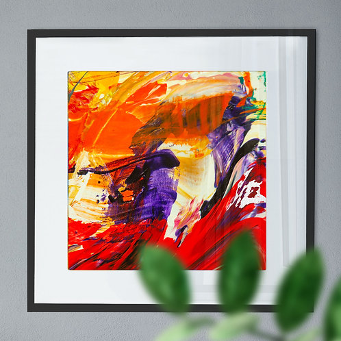 Orange, Purple and Red Digital Wall Art Print (Abstract)