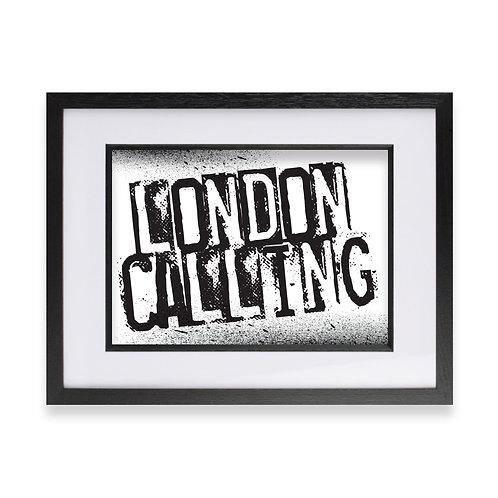 'London Calling' Digital Graffiti Word Art