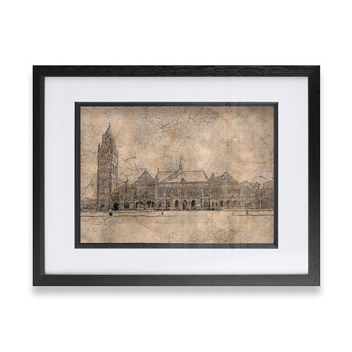 Rochdale Town Hall Vintage Effect Framed Prints