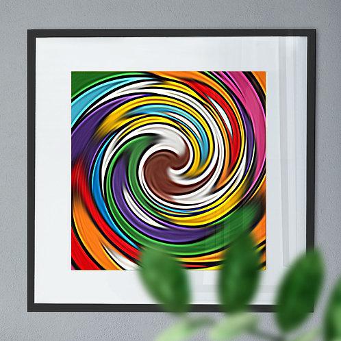 Abstract Wall Art Print of a Rainbow Whirlpool