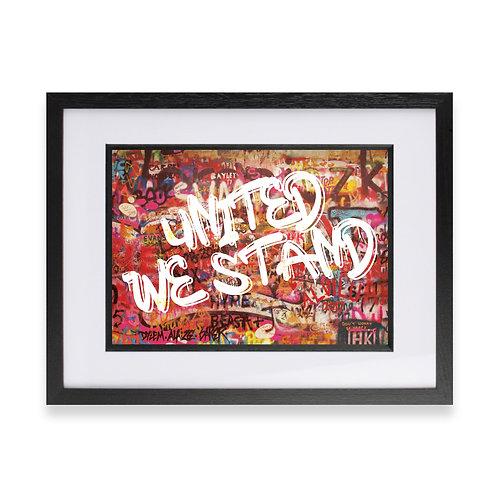 'United We Stand' Digital Graffiti Word Art