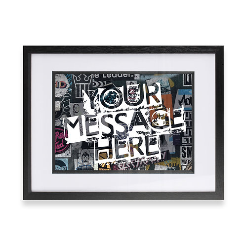 Personalised Graffiti Art - Option 11