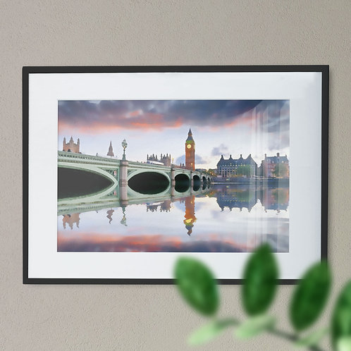 A Digital Wall Art Print of Westminster Bridge Smooth