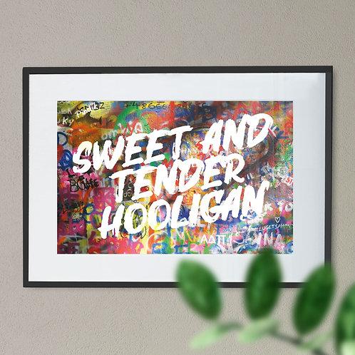 """""""Sweet and Tender Hooligan' Digital Word Art"""
