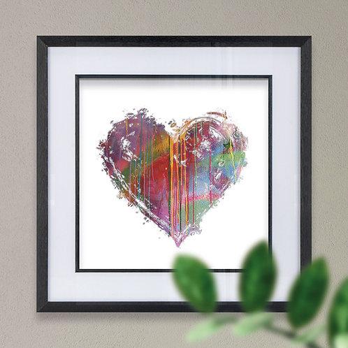 Heart Spray Paint Effect Wall Art Print
