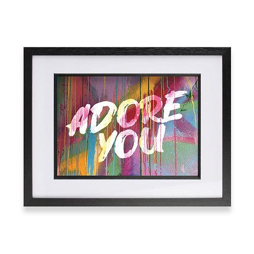 'Adore You' Digital Graffiti Word Art