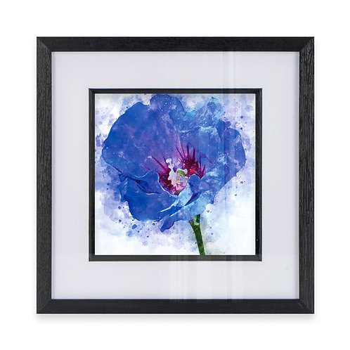 Watercolour Abstract Wall Art Print of a Hibiscus Flower