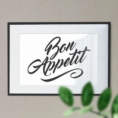 Bon Appetit Word Art Print