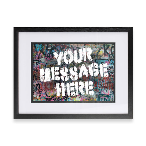 Personalised Graffiti Art - Option 3