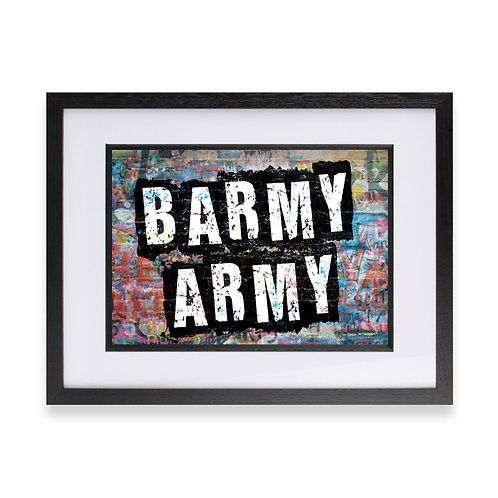 'Barmy Army' Digital Graffiti Word Art