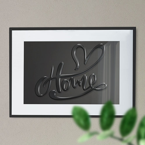 Home Love Heart High Gloss Wall Art Print