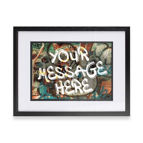 Personalised Graffiti Art - Option 12