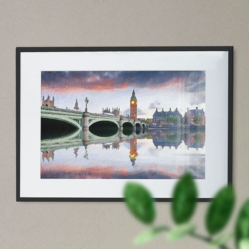 A Digital Wall Art Print of Westminster Bridge Rough
