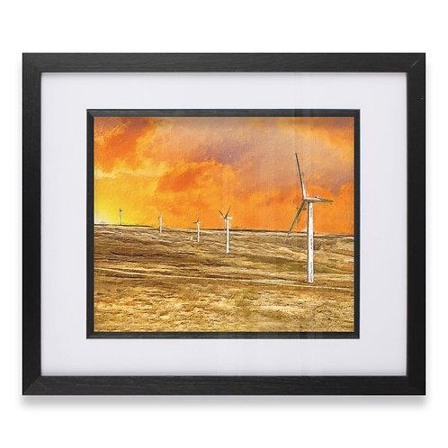 Scout Moor Wind Turbines Near Knoll Hill, Rochdale  Framed Print