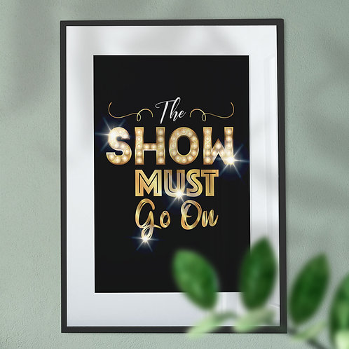 The Show Must Go On Broadway Lights Wall Art Print