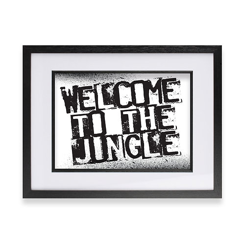 """Welcome to the Jungle' Digital Graffiti Word Art"