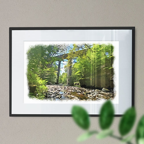Healey Dell Rochdale Oil Painting Effect - Wall Art Print