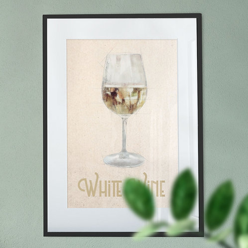 White Wine Soft Background Wall Art Print