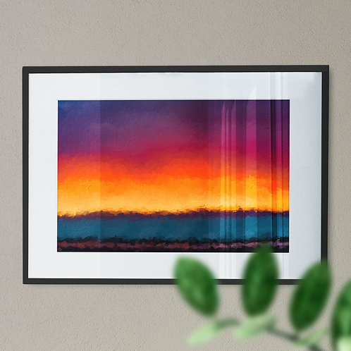 A Beautiful Colorful Wall Art Print of the Horizon (Abstract)