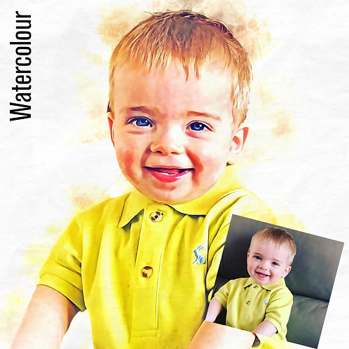 Personalised Portrait - Watercolour Painting Effect