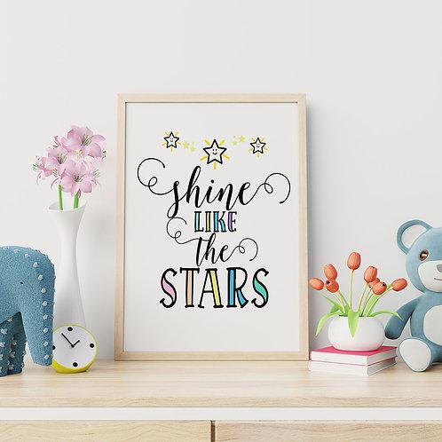 Shine Like the Stars Wall Art Print