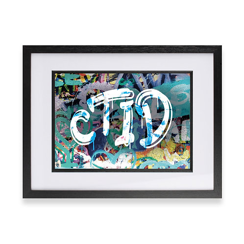 'CTID' Digital Graffiti Word Art