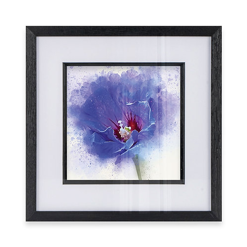 Watercolour Explosion Wall Art Print of a Hibiscus Flower