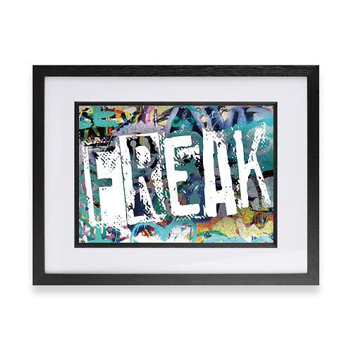 'Freak' Digital Graffiti Word Art