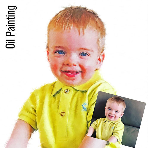 Personalised Portrait - Oil Painting Effect Cut Out