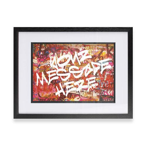 Personalised Graffiti Art - Option 14