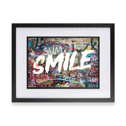 'Smile' Digital Graffiti Word Art