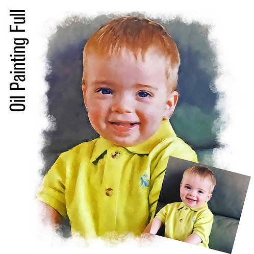 Personalised Portrait - Oil Painted Effect Full