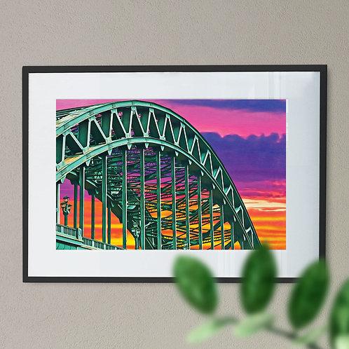 Wall Art Print of Tyne Bridge Newcastle Painting