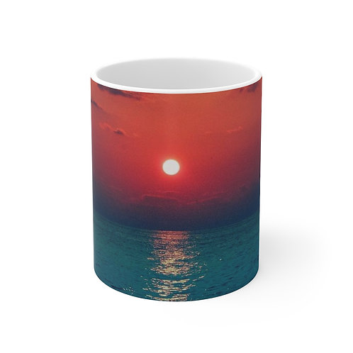 White Ceramic Mug Sunrise