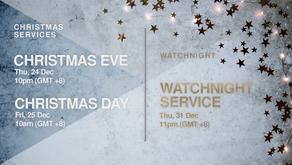 December Special Services Livestream Links