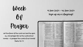 Week of Prayer (9 Jan - 16 Jan)